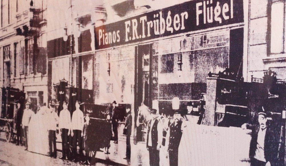 ARTWORK2 PIANOHAUS TRÜBGER 145 YEARS  screen print/ wood under fluorescent acrylic glass