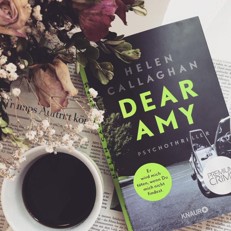 """Helen Callaghan – Dear Amy  Margot Lewis erhält über ihre Ratgeber-Kolumne """"Dear Amy"""" einen Brief von einem Mädchen, das vor 15 Jahren spurlos verschwand.Überraschender und unheimlicher Thriller. Ab und zu leicht durchschaubar, aber dennoch gut!"""