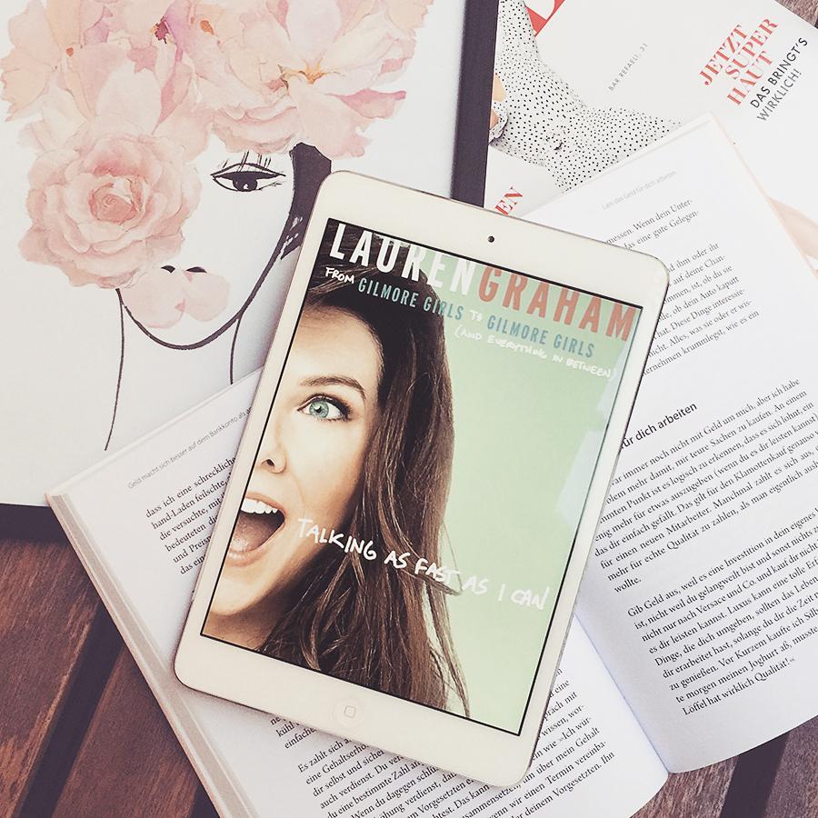 Lauren Graham – Talking as fast as I can  Sehr unterhaltsame Kollektion an persönlichen Kurzgeschichten aus dem Leben von Schauspielerin und Autorin Lauren Graham. Teilweise etwas zu unreflektiert und kurz gefasst, aber dennoch ein Lesemuss für jeden Fan.