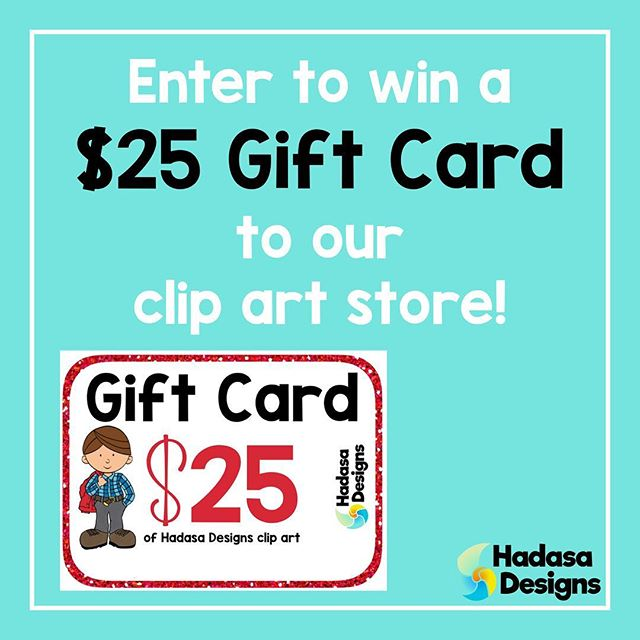 Visit our blog at HadasaDesigns.com (link in profile) for a chance to win 4 different clip art giveaways! Don't delay because entries will only be accepted for the next week! Over $150 in clip art for you and a friend! Visit our blog to find out the details and to enter. You can also visit out TPT store for the sale we are having from July 18th to the 21st.  #hadasadesigns #giveaway #clipart #freeclipart #sale