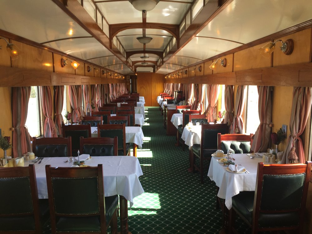 One of two dining cars.