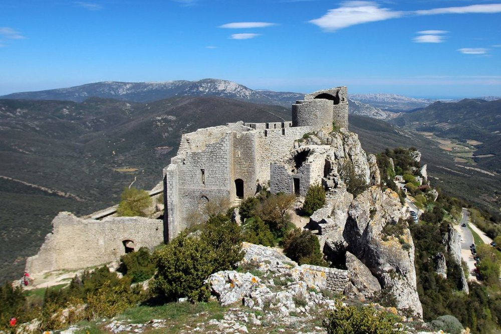 The castle of Peyrepertuse. Photo Montagnac Pascal