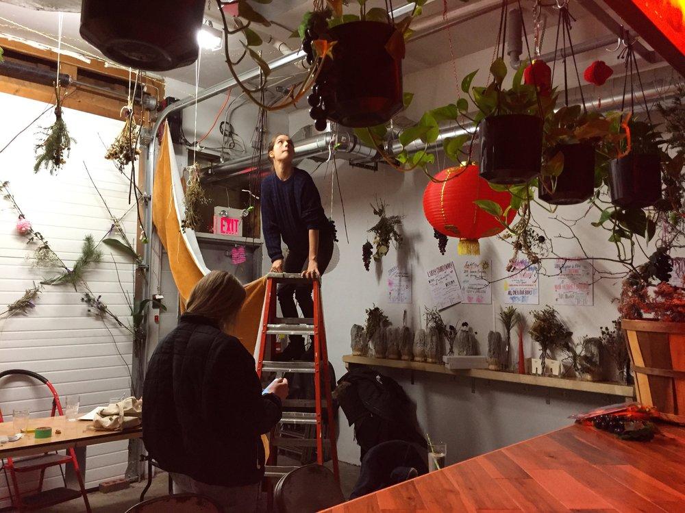 Liz hanging Velvet!!!!!