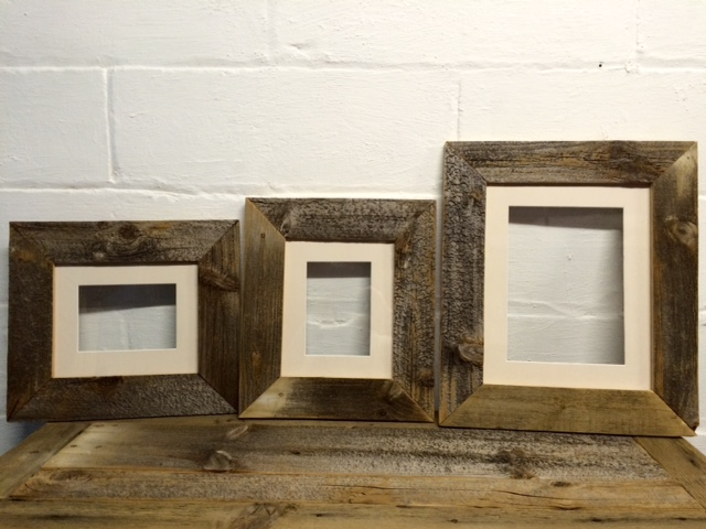 Reclaimed barnwood frames