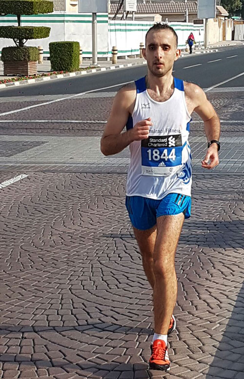 Mhd. Hasan Aljijakli during the Dubai Marathon 2017
