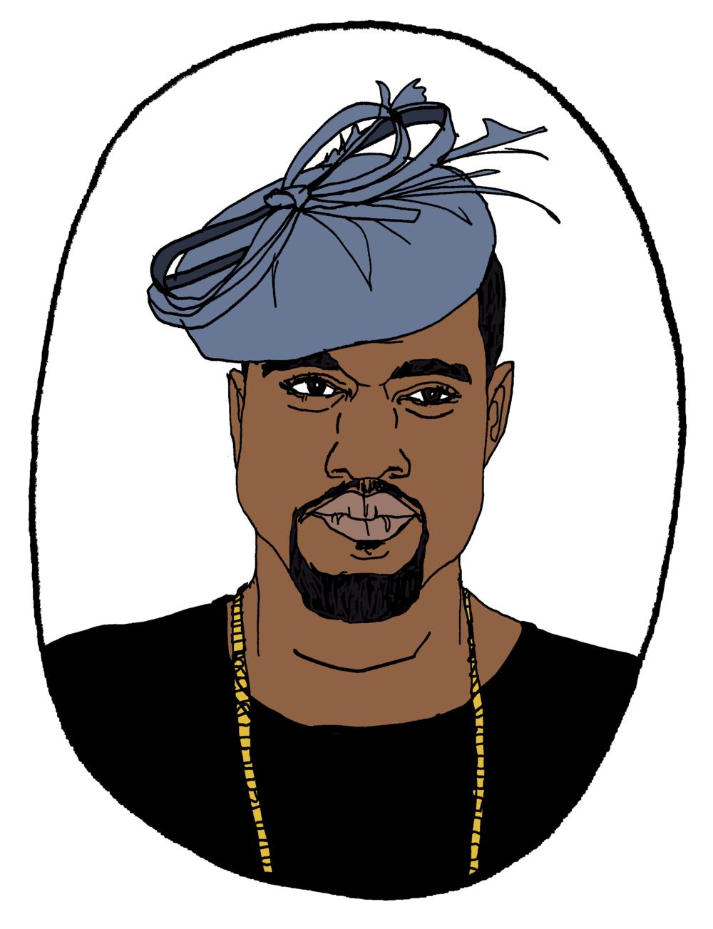 Kanye in Kate Middleton's Hat