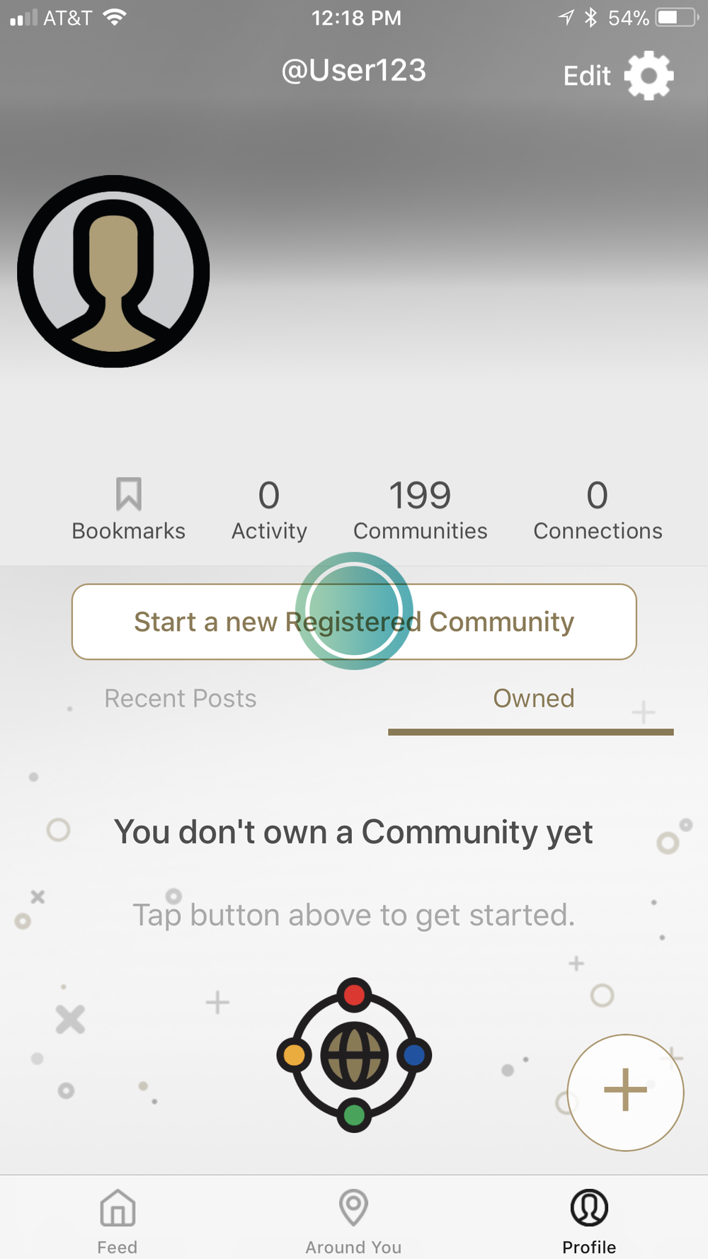 1. Go to your Profile - Tap
