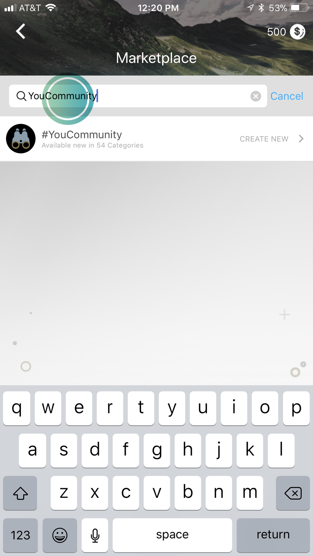 4. Type in your Community name/title -
