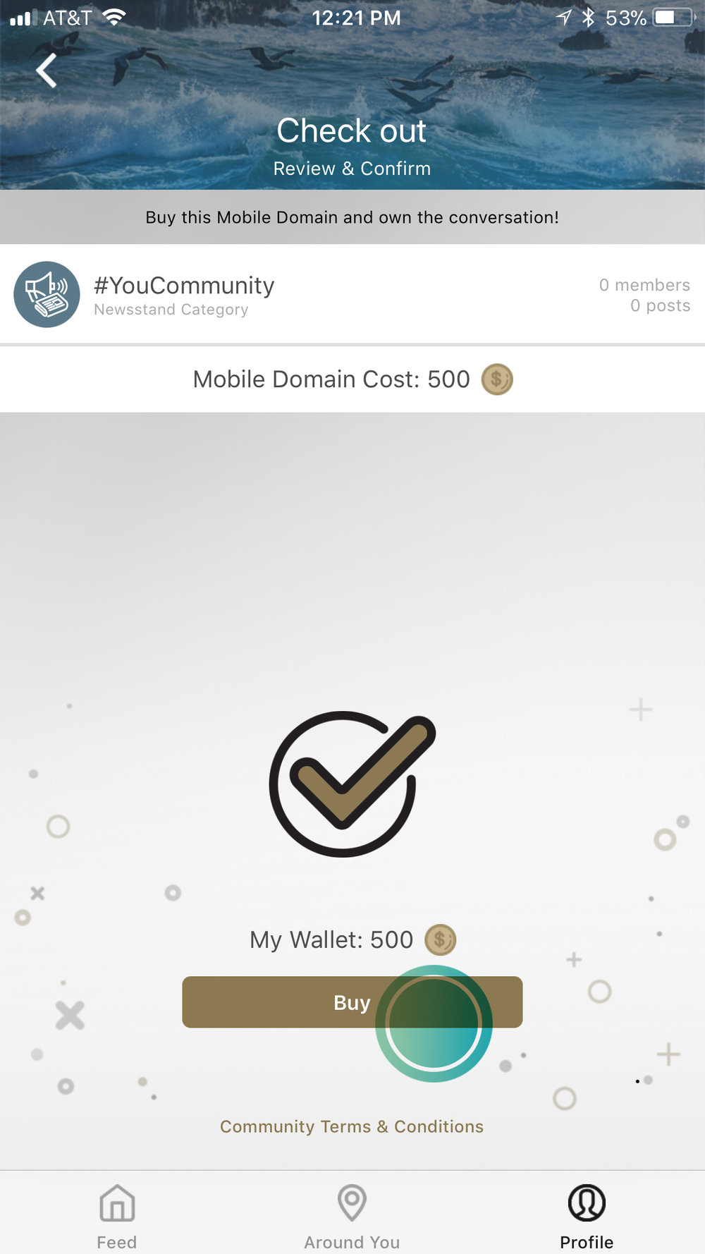 6. Confirm and Buy -