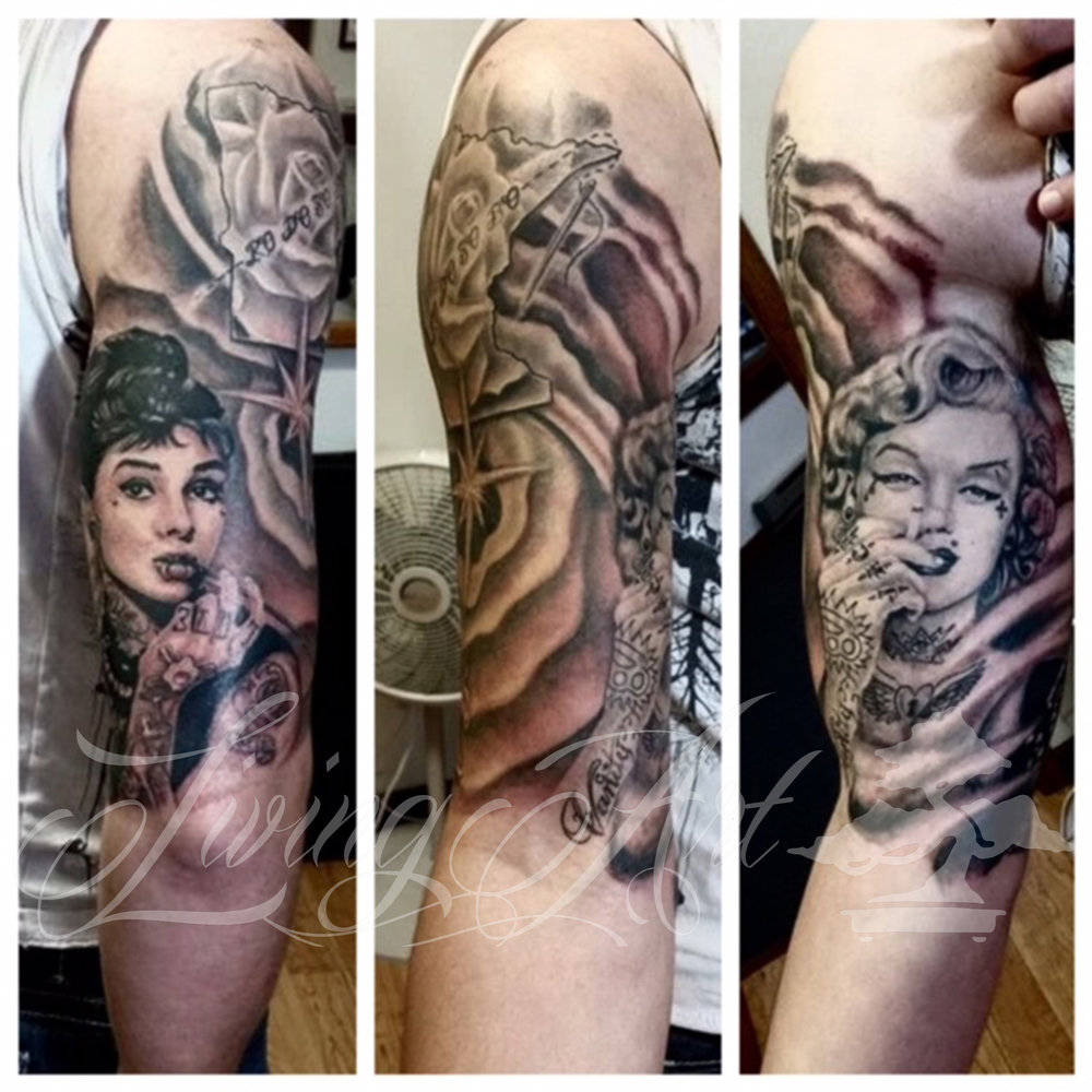 chris owen tattoo_audrey hepburn maralyn monroe portrait tattoo.jpg