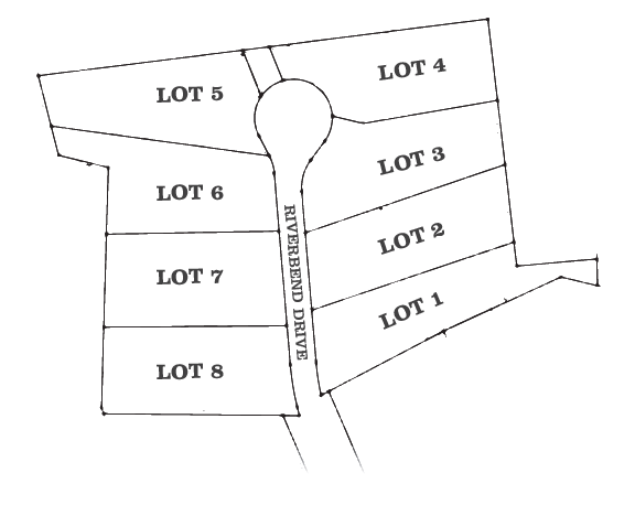 Subdivision Map for Riverbend Drive