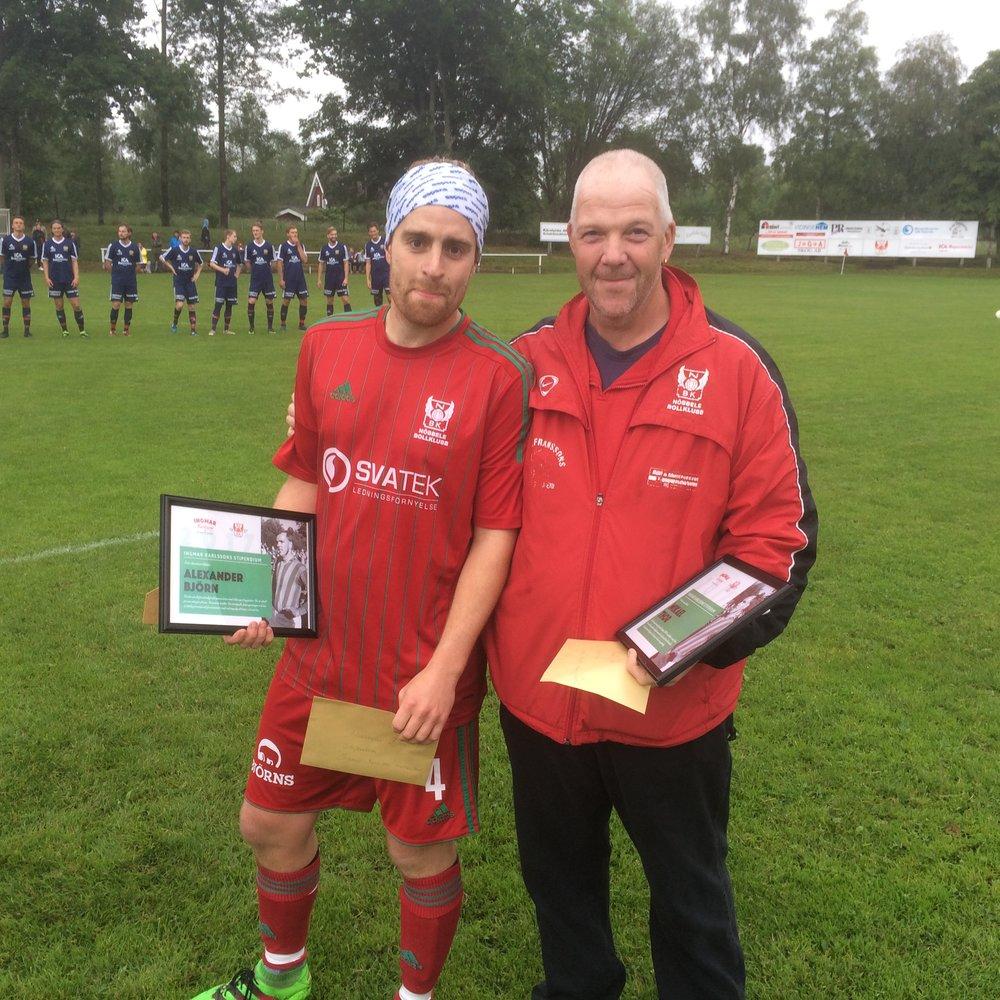 Värdiga pristagare: Alexander Björn och Mikael Thor