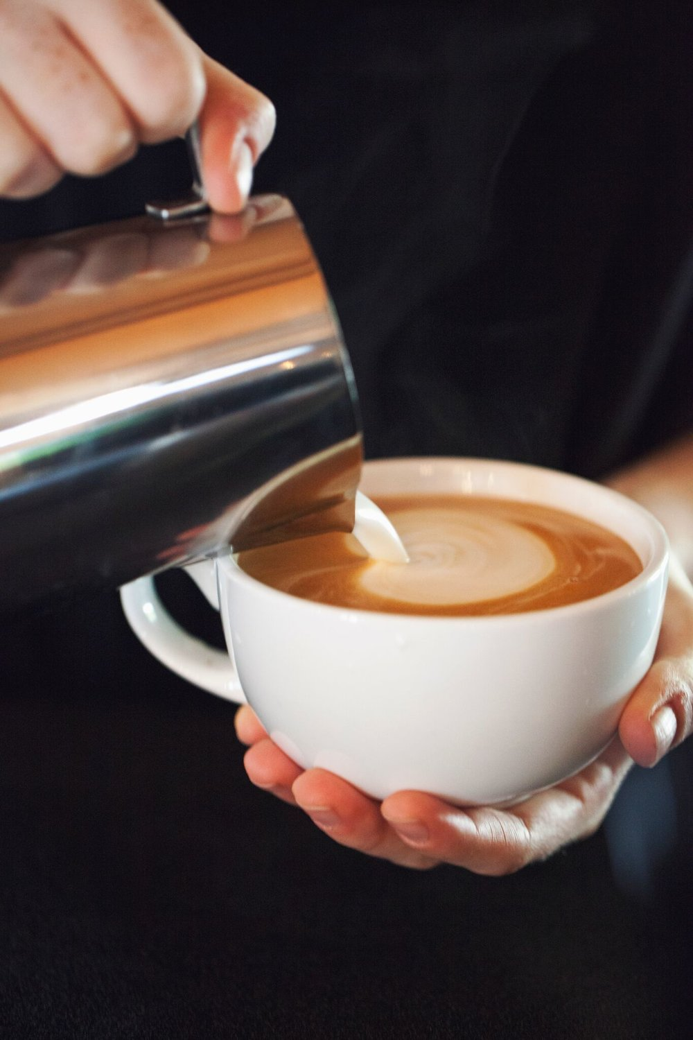 Creating Latte Art by Espresso Elegance Catering