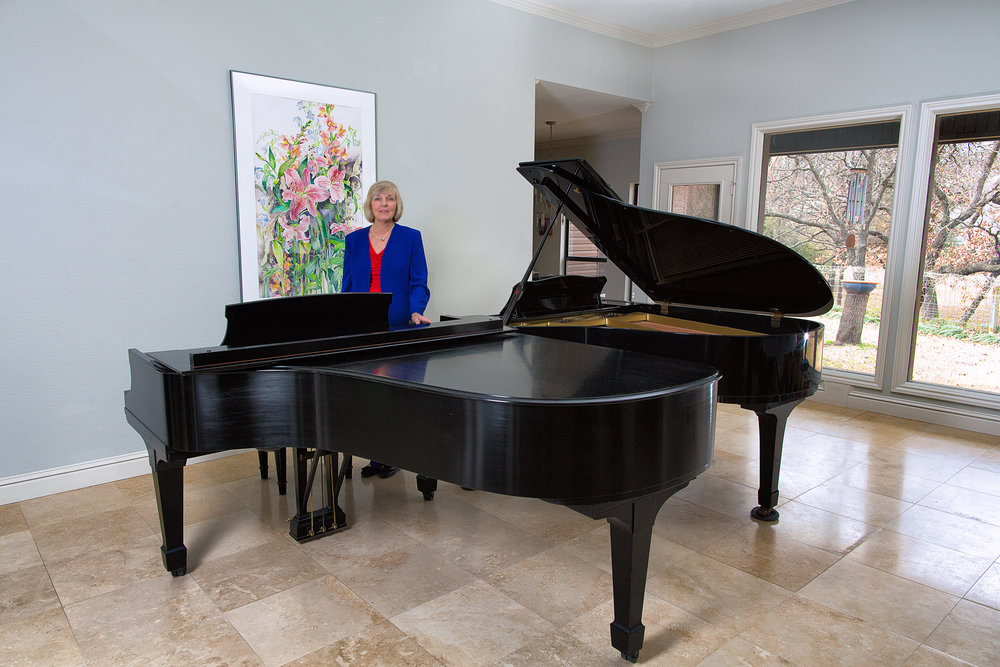 Denton Suzuki Academy Teaching Studio with Steinway Grand Piano and Yamaha Grand Piano