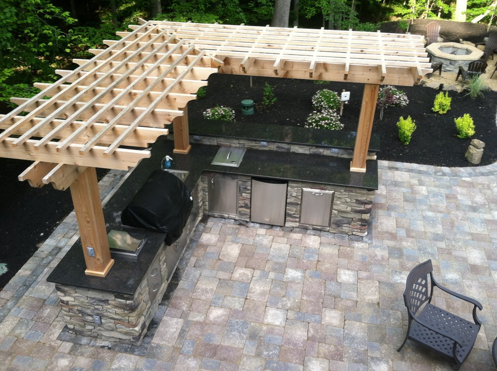 California Kitchen Hardscape Design