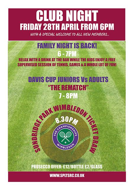 Juniors vs Adults Davis Cup Rematch Followed by Wimbledon Ticket Draw