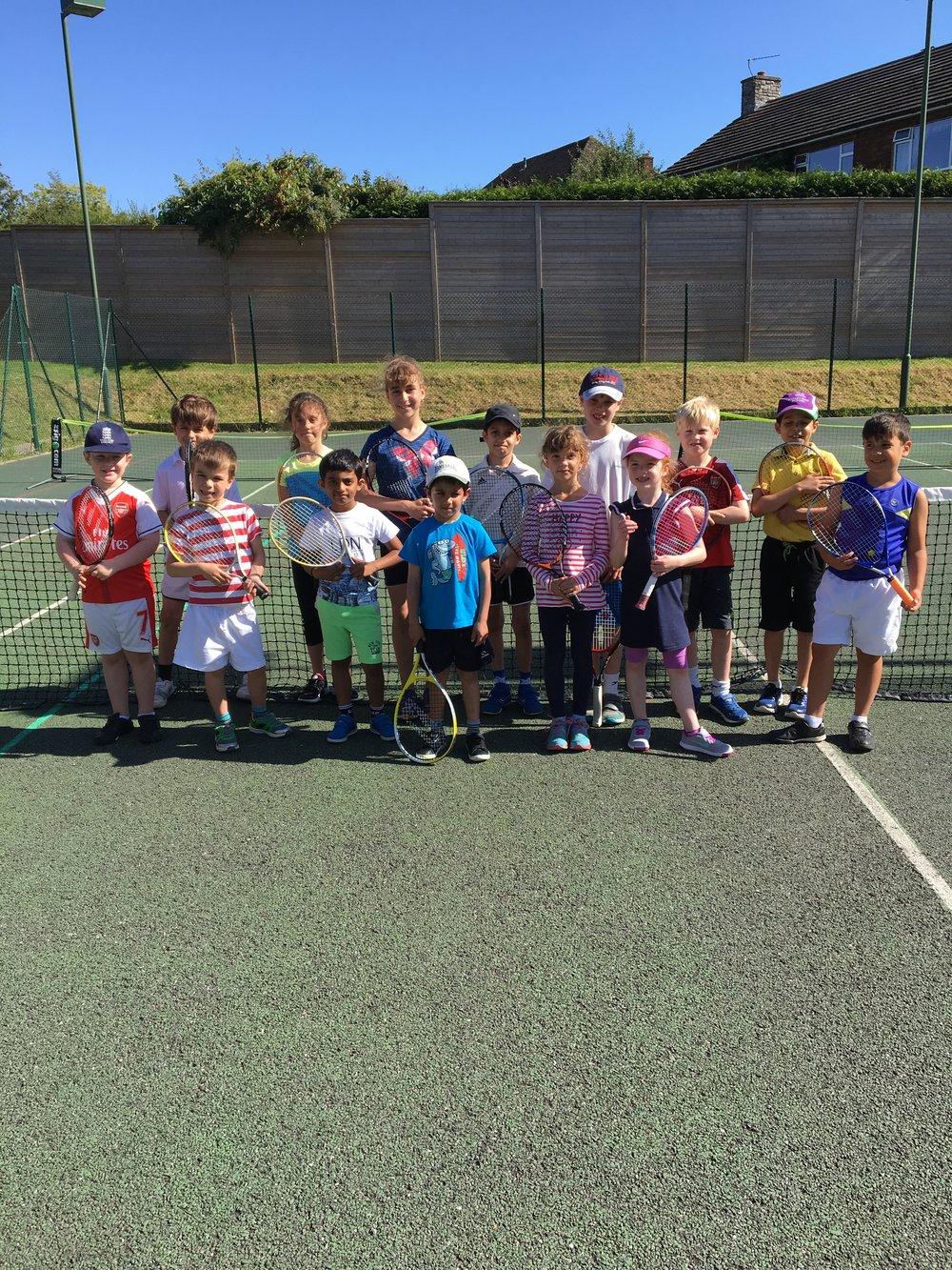 Seen here are Sundridge Park's new little tennis superstars!