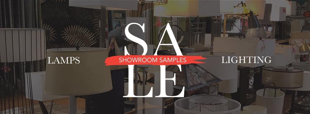 Table & Floor Lamp Samples SALE