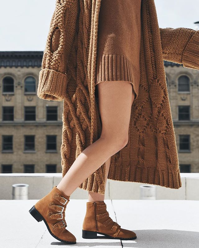 Monochromatic vibes in the LAYLA buckled bootie 🍂🧡