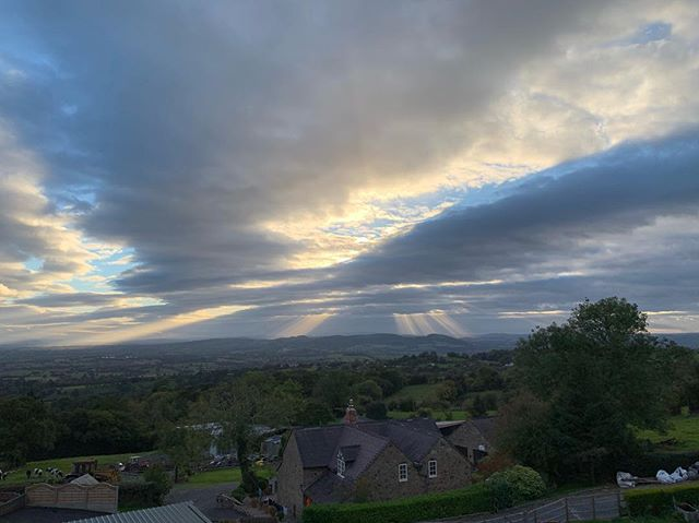 Crepuscular rays... or God's Fingers! #nofilter