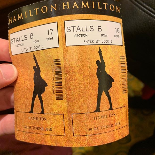#Hamilton #london pre show G&T because we can