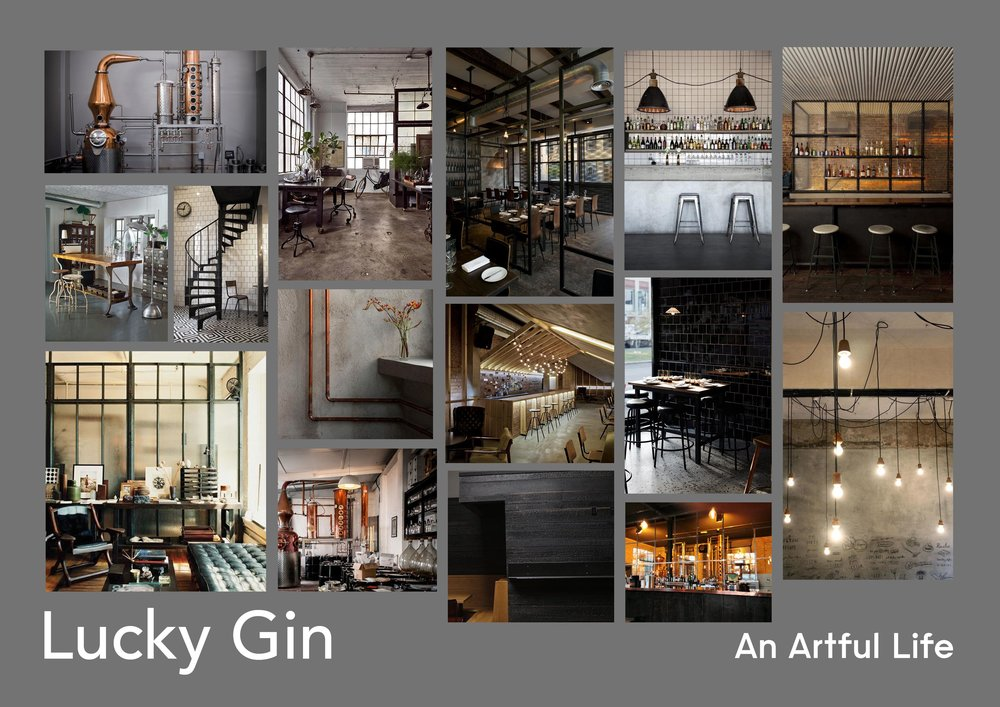 Lucky Gin bar design by An Artful Life studio
