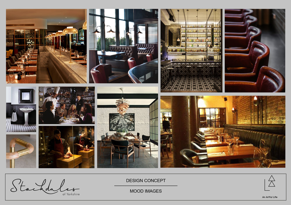 Stockdales of Yorkshire restaurant concept design by An Artful Life studio