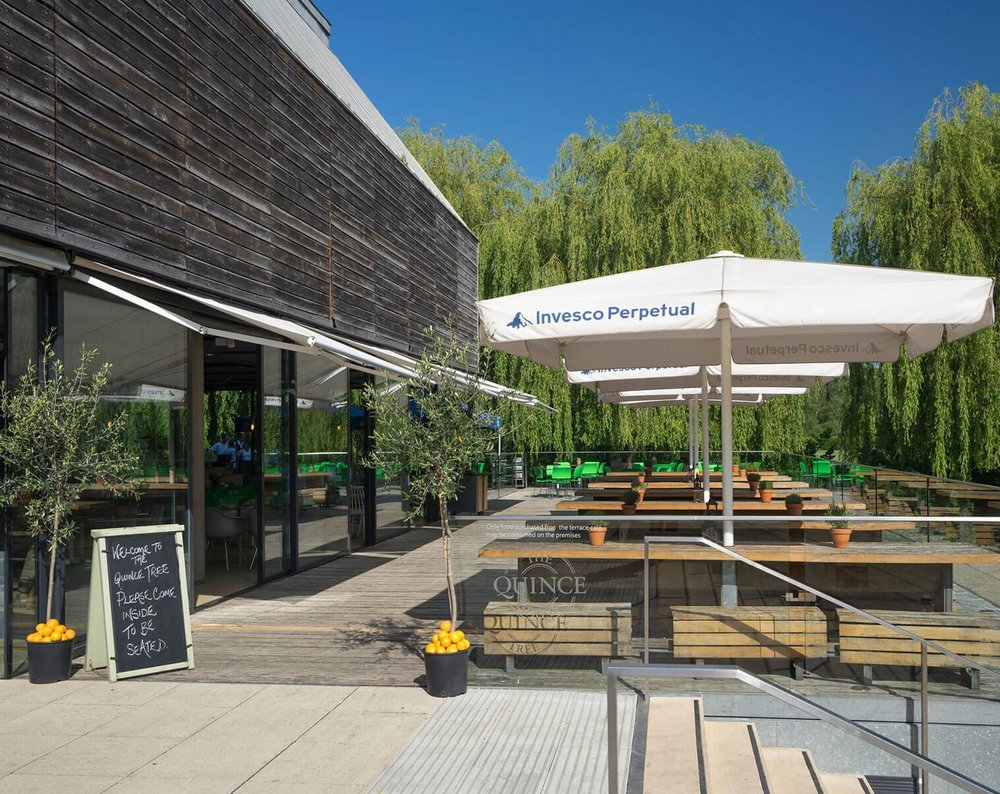 The Quince Tree cafe at the River & Rowing museum Henley by An Artful Life studio