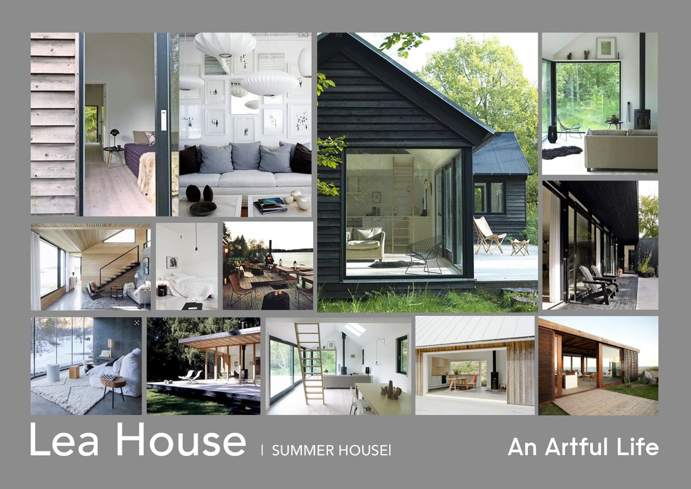 Lea House mood boards by An Artful Life studio