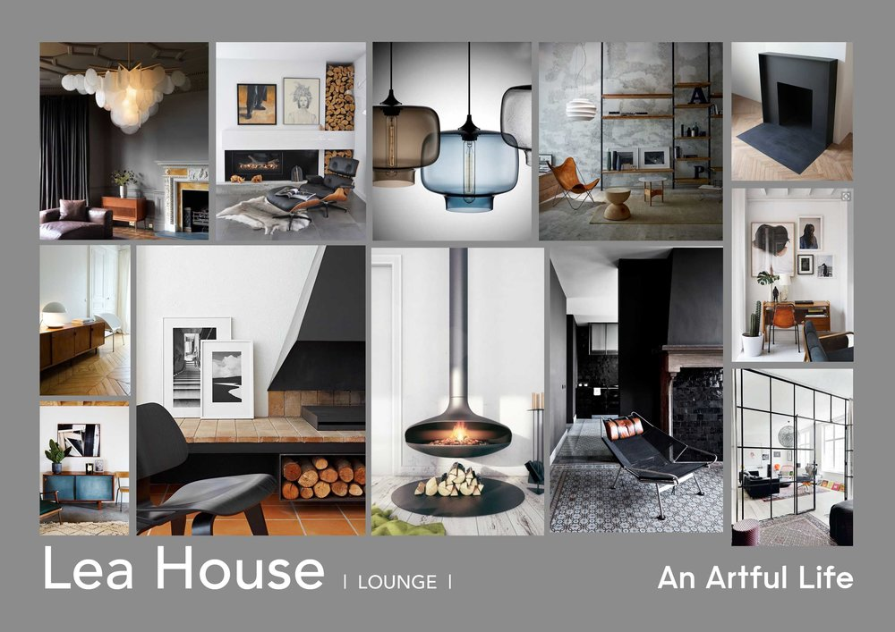 Lea House mood board by An Artful Life