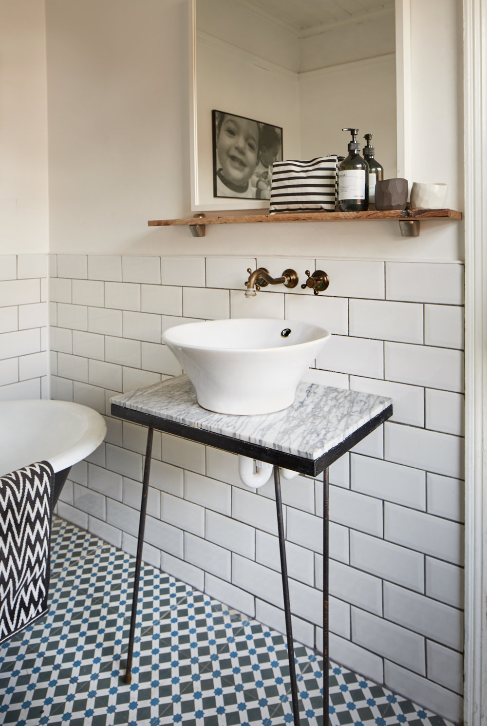 Mill End House bathroom by An Artful Life studio