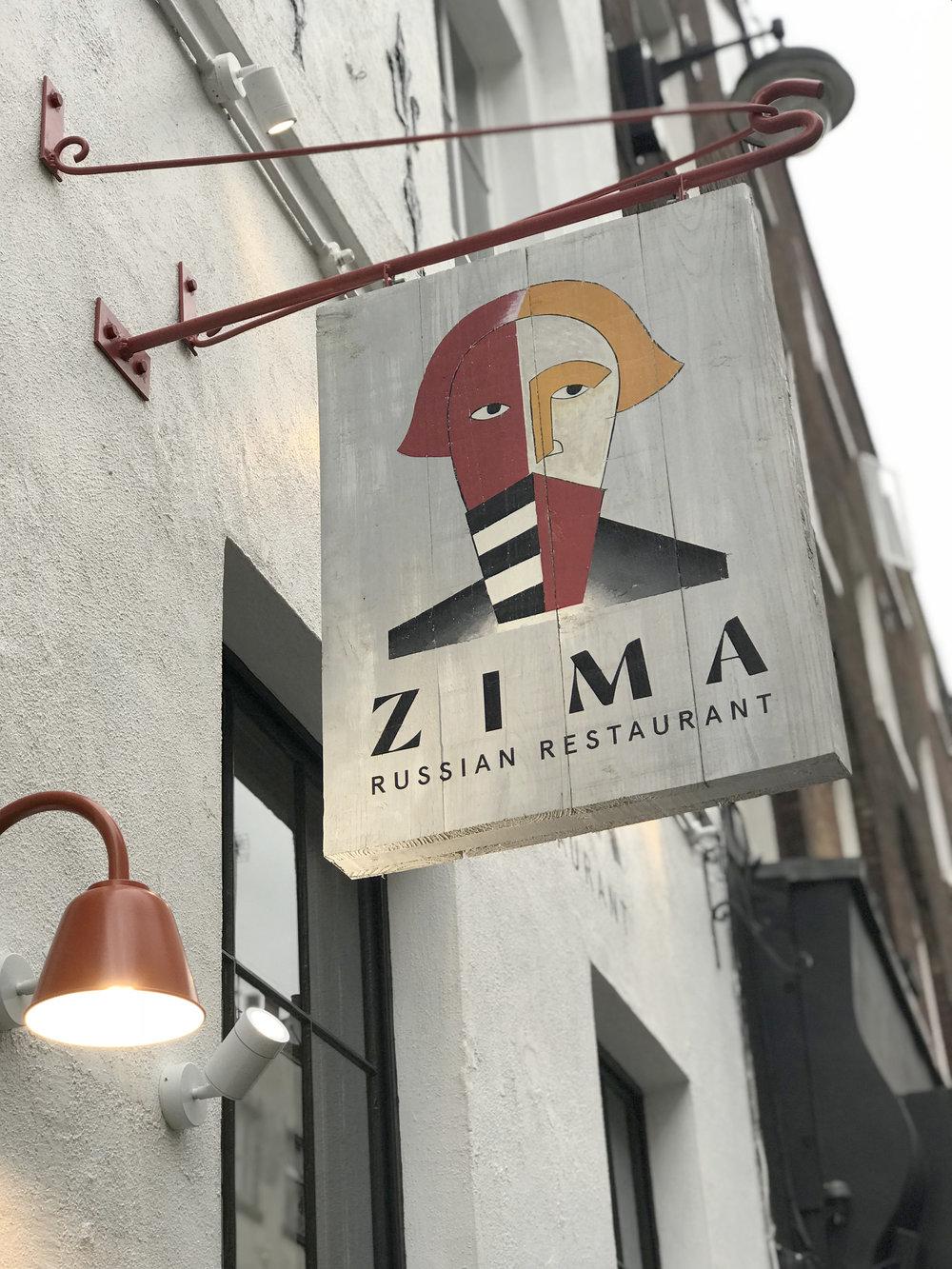 Zima signage by An Artful Life Studio