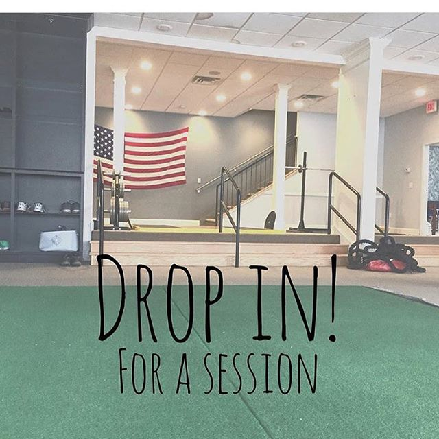 Drop in sessions available! Stop in or email us to schedule your session 🏋🏼‍♀️