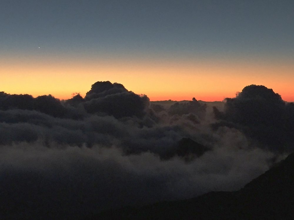 Sunrise from top of Haleakala