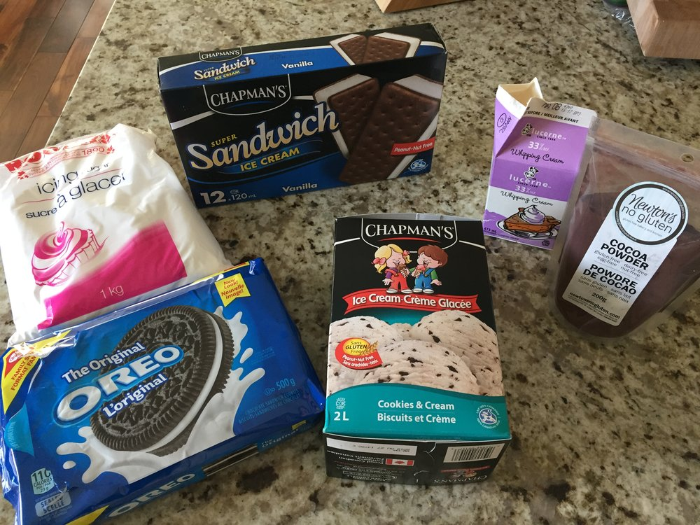 Peanut & Tree Nut Free Ice Cream Cake Ingredients