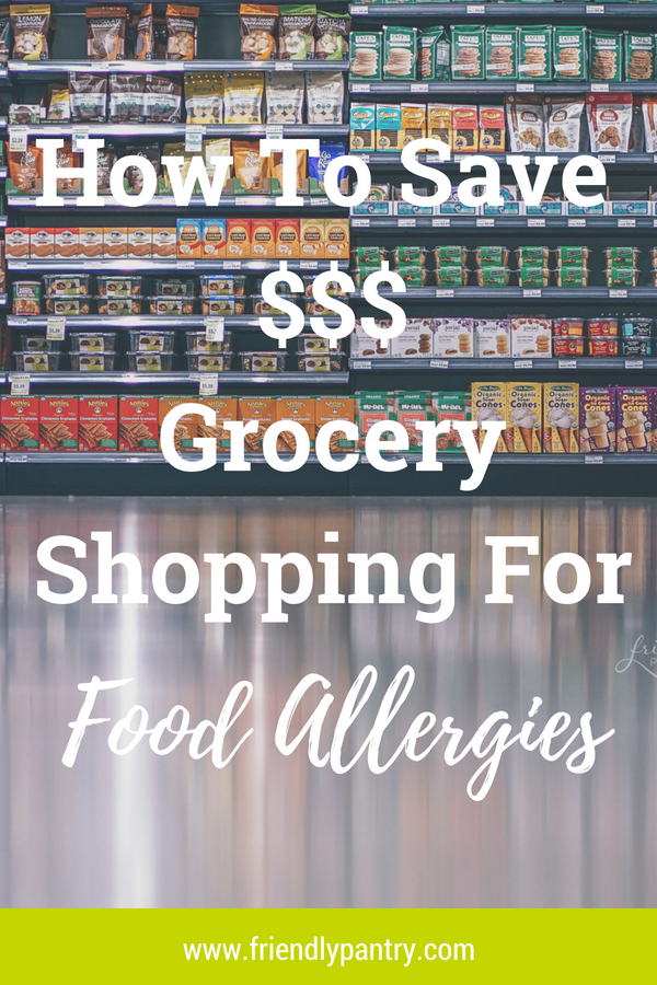 Read how to save money while grocery shopping for common food allergies and special diets.