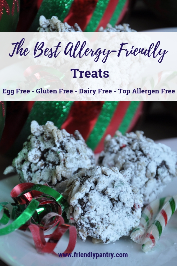 Egg, gluten, dairy, and top allergen free holiday cookies or treats