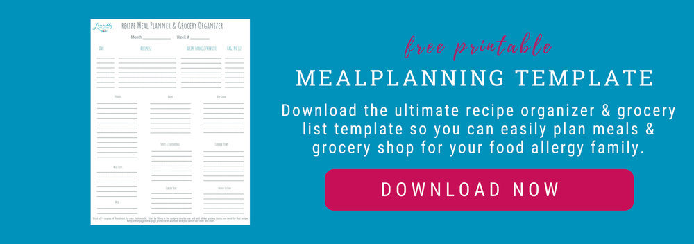 Food allergy recipes for families who use a fare allergy plan, or a food allergy action plan.