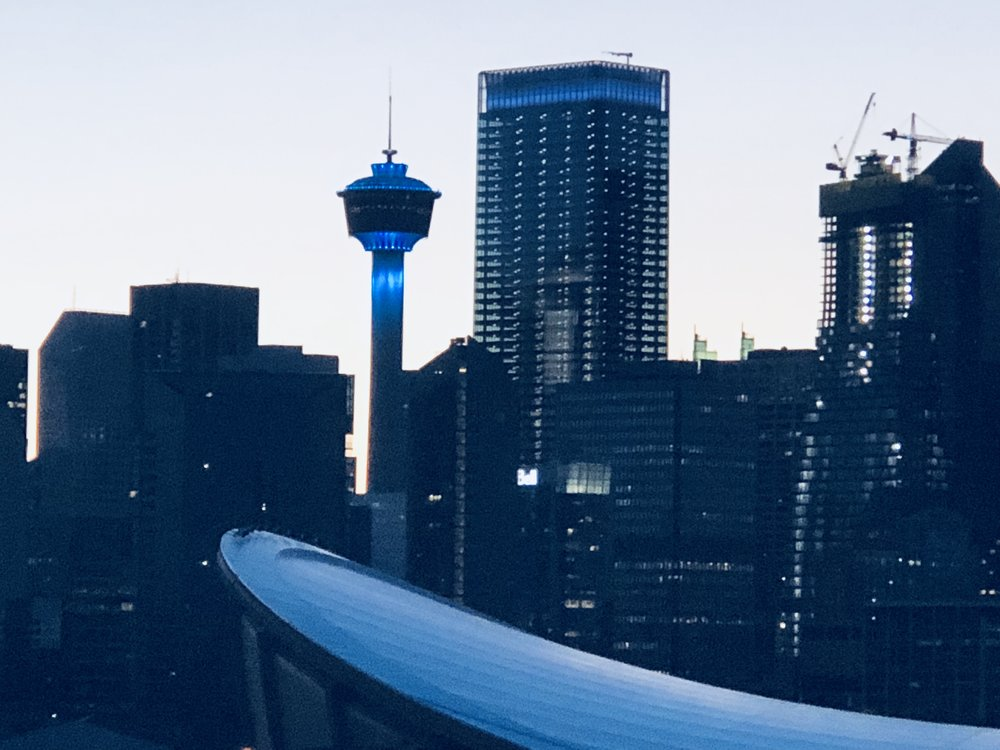 Food Allergy Awareness Week #turnitteal Calgary Tower Lighting