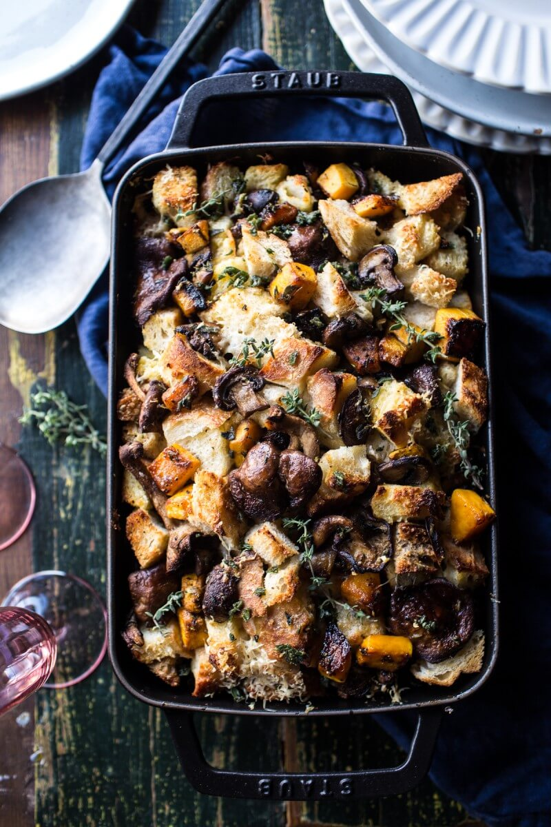 Butternut Squash and Wild Mushroom Stuffing from Half Baked Harvest