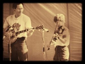 Jason & Bruce, Burnsville, NC 1987. Photo: Marilyn Cade