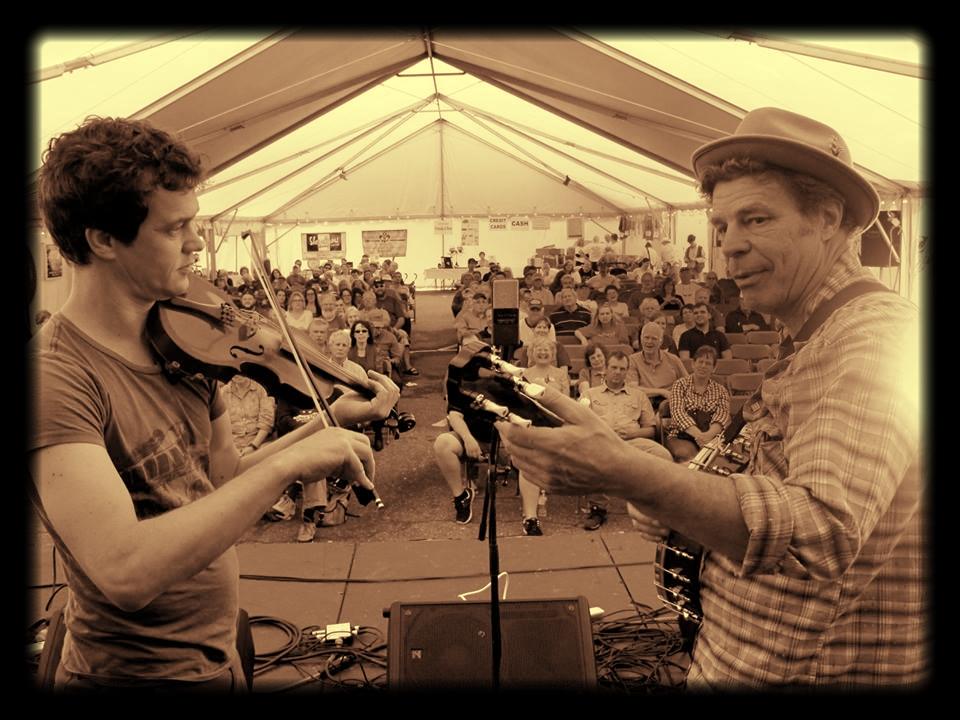 Jason and John Grimm at Bear on the Square in Dahlonega, GA, 2015. Photo: Rob