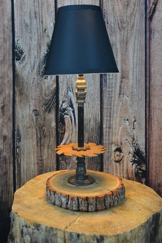 lamp 20 orange tree stump with blade table lamp