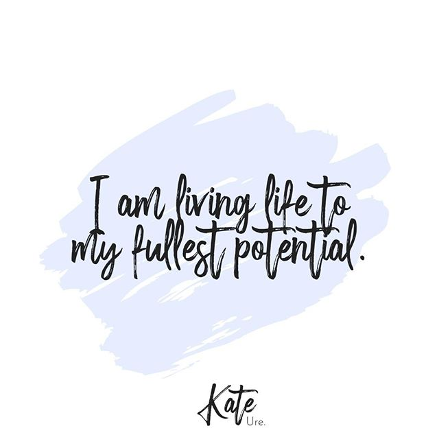 """Say it with me, """" I am living life to my fullest potential.""""⠀⠀⠀⠀⠀⠀⠀⠀⠀ ⠀⠀⠀⠀⠀⠀⠀⠀⠀ It is important for us to recognize that we are living our lives on our terms and to our fullest potential.⠀⠀⠀⠀⠀⠀⠀⠀⠀ ⠀⠀⠀⠀⠀⠀⠀⠀⠀ I want you to make it a point to repeat this to yourself throughout the week to remind yourself of your greatness & all that you have accomplished in life.⠀⠀⠀⠀⠀⠀⠀⠀⠀ ----⠀⠀⠀⠀⠀⠀⠀⠀⠀ #kureliving #kurecommunity #kurelivingcommunity #kurelivingmom #kurelivingcoach #kureyourlife⠀⠀⠀⠀⠀⠀⠀⠀⠀ #transformyourlife #lifecoachforwomen #entrepreneur #transformationalcoach #loveyourlife #spiritjunkie #bossbabes #girlbosslife #freedomliving #womenempoweringwomen #bestkeptself #pursueyourpassion #beyou #abundancemindset #mybeautifullife #mantras #inspirationdaily #selflovequotes #consciousliving #letloveshine#womenempowerment #livewithpurpose #freeyourheart #positivemindset"""