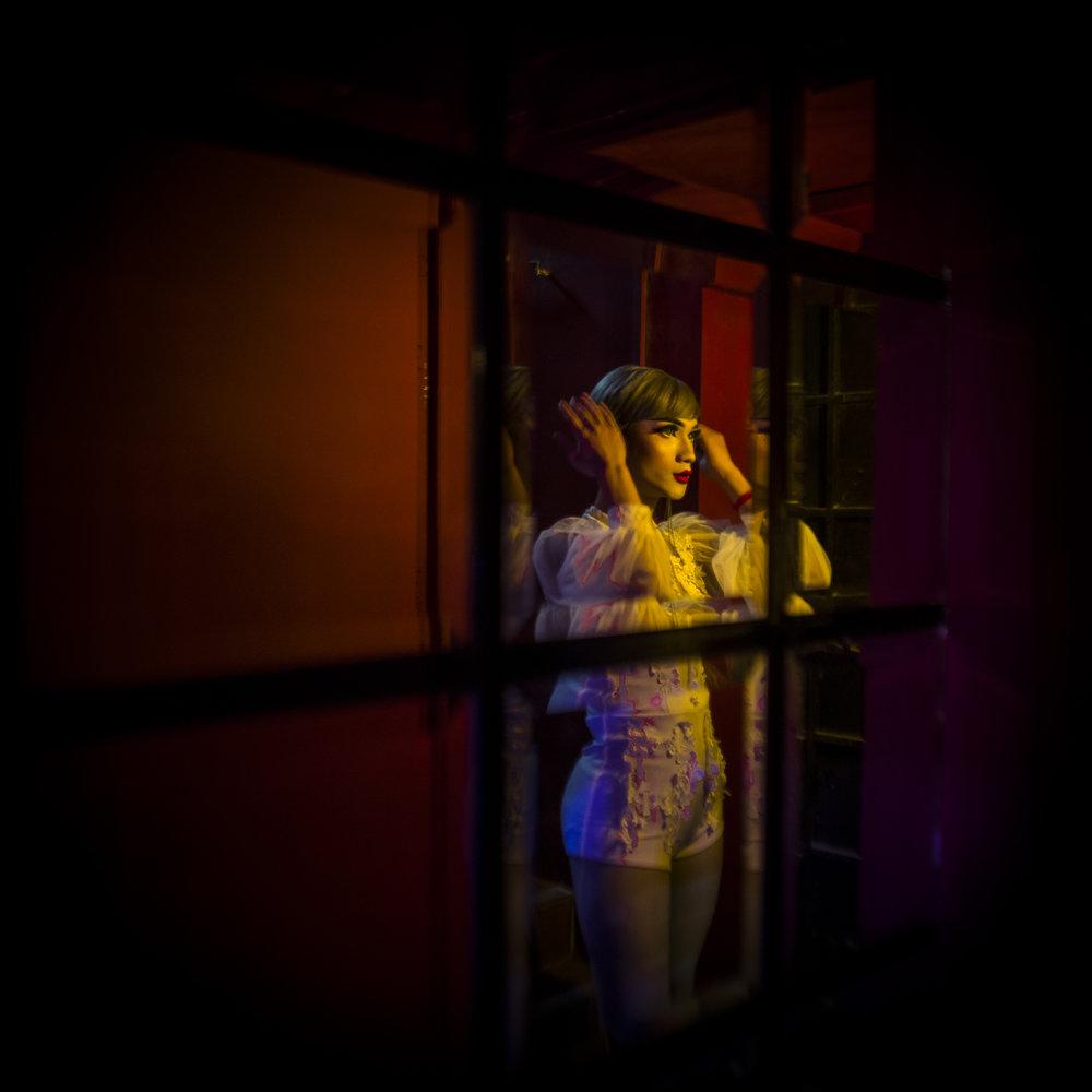 "MARYLISE VIGNEAU  |   www.marylisevigneau.com   |   @marylisevigneau   Backstage at ""Q Bar"", a gay bar in Phnom Penh, Cambodia, October 2017."