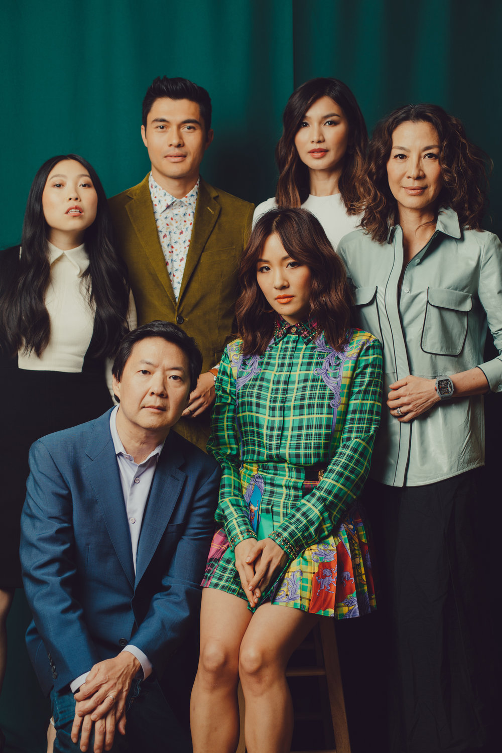 "ROZETTE RAGO   www.rozette.org  |  @hellorozette   The cast of ""Crazy Rich Asians,"" clockwise from top left: Awkwafina, Henry Golding, Gemma Chan, Michelle Yeoh, Constance Wu and Ken Jeong.  From The New York Times:    What Being in 'Crazy Rich Asians' Means to the Movie's Stars"