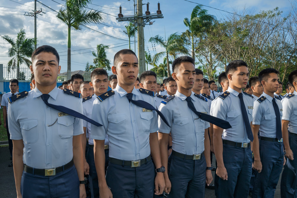 HANNAH REYES MORALES  www.hannahreyesmorales.com  |  @hannahreyesmorales   Cadets at a merchant marine academy near Manila train for one of the most prestigious jobs for workers in the diaspora. Those who succeed are ensured a path to a middle-class life for their families. A quarter of the world's seafarers come from the Philippines. The Philippines is one of the top emigrating countries worldwide, with 1 in 10 Filipinos abroad.  From National Geographic:    Why 10 Million Filipinos Endure Hardship Abroad as Overseas Workers