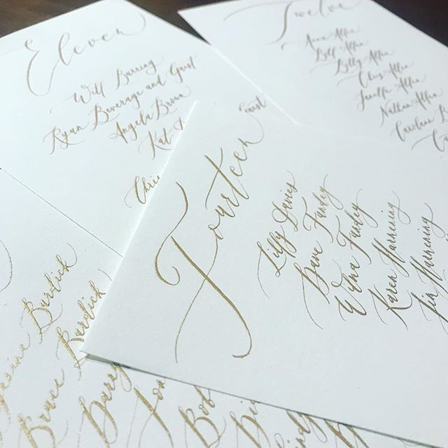 Table Assignments - can't wait to see these up!! 🙌🏼 #calligraphy #moderncalligraphy #weddingcalligraphy #weddingdetails #seatingchart