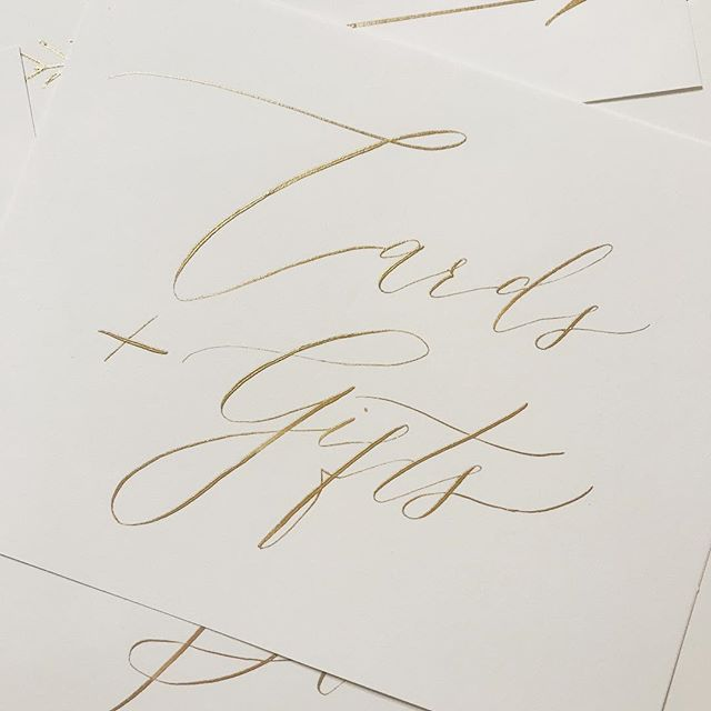 With many of my pointed pen calligraphy projects I have to write sooooo small. It's so freeing to get to use pointed pen on a larger scale. Love how these turned out. #calligraphy #weddingsigns #weddingcalligraphy #moderncalligraphy #pointedpencalligraphy #handletteredisbetter #weddingdetails
