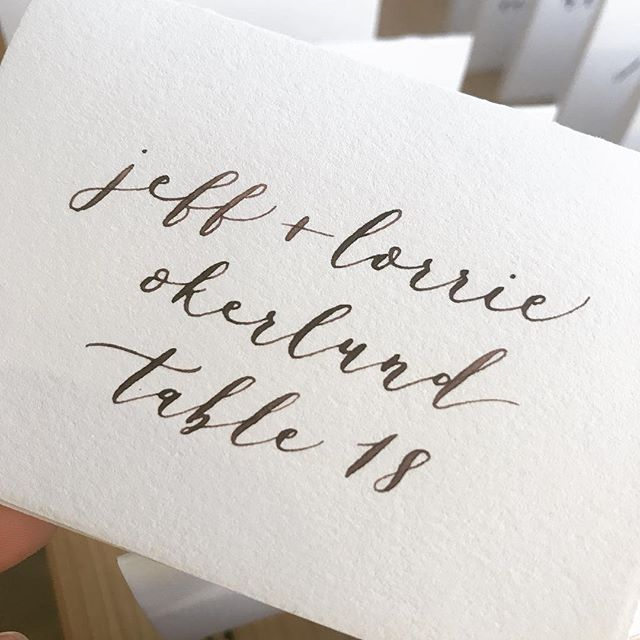 Love the ombré look with this walnut ink! 🐿  #calligraphy #weddingcalligraphy #weddingdetails #pointedpencalligraphy #bayareacalligrapher #moderncalligraphy
